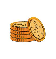 bitcoins virtual money vector image
