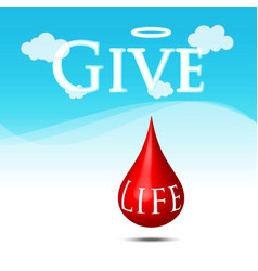blood donate for life vector image