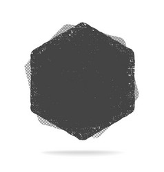 grunge hexagon shape dirty texture vector image