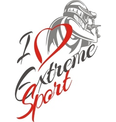 I love extreme sport Paintball player - vector image