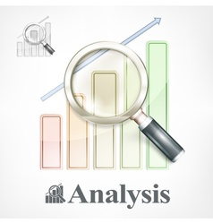 Magnifying glass and color vector image vector image