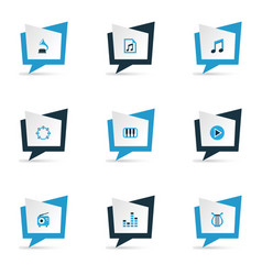 music colorful icons set collection of mixer vector image vector image