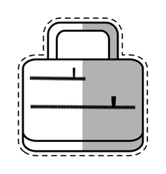 suitcase travel equipment shadow vector image