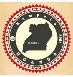 Vintage label-sticker cards of Uganda vector image vector image