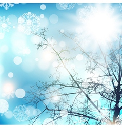 Winter Day vector image