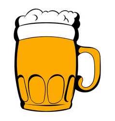 mug of beer icon cartoon vector image
