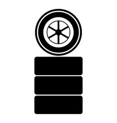 Racing wheel icon simple style vector