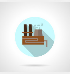 thermal power station flat blue round icon vector image