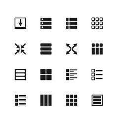 ui menu and user interface navigation icons vector image