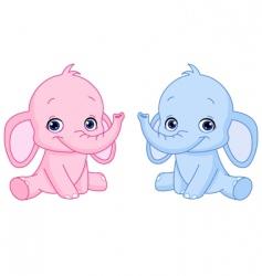 baby elephants vector image vector image