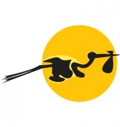 cartoon stork vector image