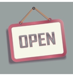 Open hanging Sign on the Wall vector image vector image