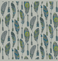 seamless pattern with hand drawn ornate vector image