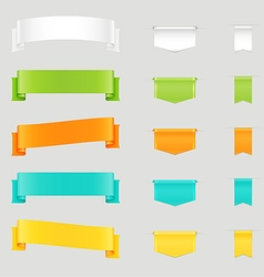 Set of colorful web ribbons and bookmarks vector image vector image