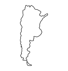 Argentina map icon outline style vector image vector image