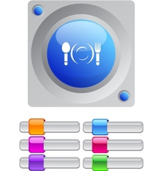 Dinner color round button vector image