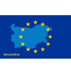 Flag of European Union with Bulgaria on background vector image