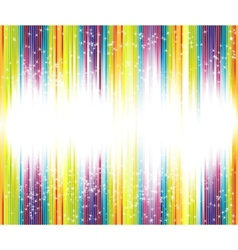 halftone rainbow background with lots of stars vector image