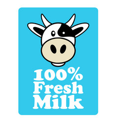 label and symbol for milk vector image vector image
