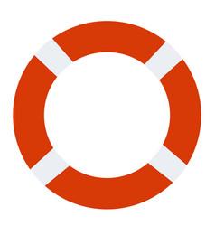 lifebuoy icon on white background lifebuoy sign vector image