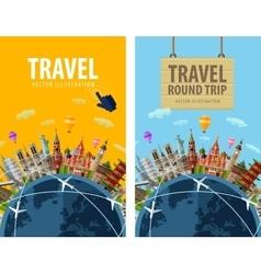 Travel journey trip logo design template vector