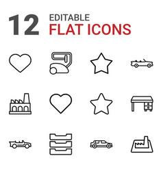 12 contemporary icons vector
