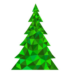 abstract green polygonal christmas tree vector image