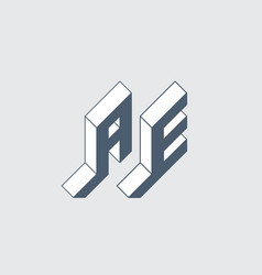 Ae - international 2-letter code united arab vector