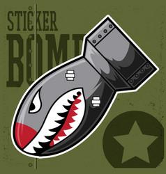 air bomb flying tiger shark mouth sticker vinyl vector image