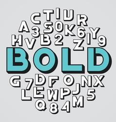 alphabet set 09 vector image