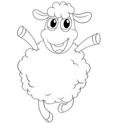 Animal outline for sheep vector