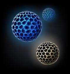 Bacterial cells concept vector