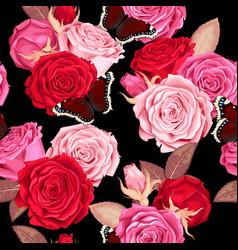 beautiful roses seamless vector image