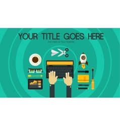 Blogging Concept Header Banner vector