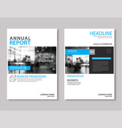 Blue annual report brochure template a4 size vector