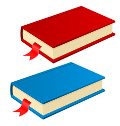 Book with bookmark red and blue vector