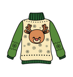Christmas ugly sweater party decorative deer head vector