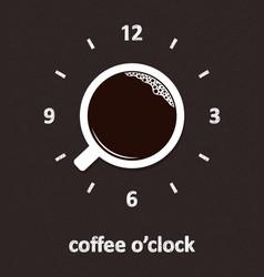 coffee o clock vector image