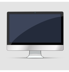 Computer display icon vector image