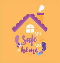 Coronavirus messages stay safe stay at home vector