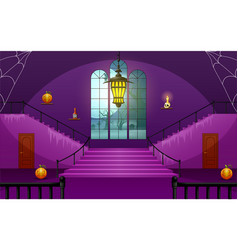 Decoration house of halloween day vector