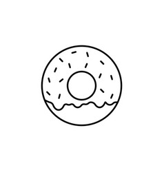 donut line icon food drink elements vector image