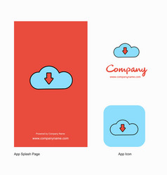 downloading company logo app icon and splash page vector image