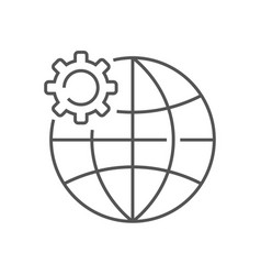Earth and gear iot concept global vector
