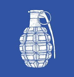 Engraved granade in vintage style vector image
