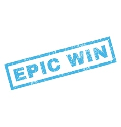 Epic Win Rubber Stamp vector
