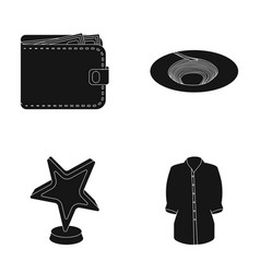 Finance training and or web icon in black style vector