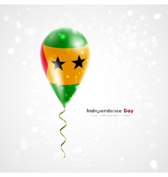 Flag of Sao Tome and Principe on balloon vector image
