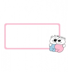 frame with baby bears vector image