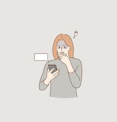 Frustration broken phone problems vector